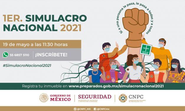 Anuncian primer simulacro nacional 2021