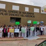 Protestan sindicalizados de salud